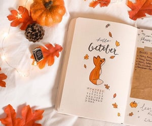 aesthetic, fall, and hello october image