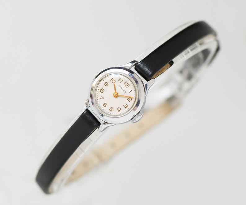 etsy, mint condition watch, and silver women watch image