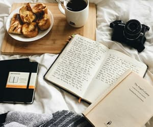 book, breakfast, and college image