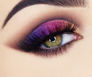 art, colours, and make-up image