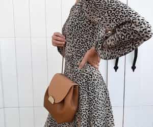 dress, fashion, and leopard print image