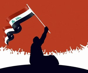 الله أكبر, تصميم تصاميم, and العراق ينتفض image