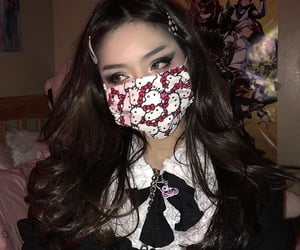 goth, aesthetic, and asian image