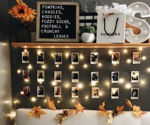 bedroom, bedroom decoration, and fall image