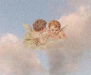angel, clouds, and aesthetic image