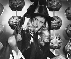 Halloween, black and white, and vintage image