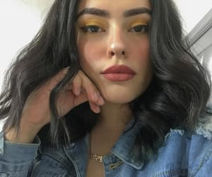 denim, hair, and liner image