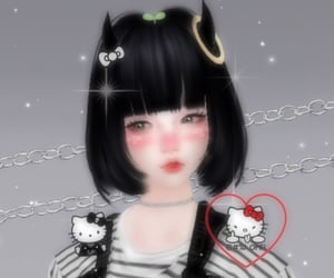 3d, girl, and icon image