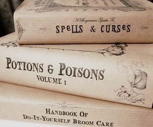 books, spells, and harry potter image