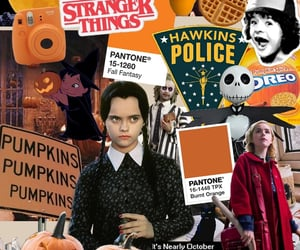 background, Collage, and Halloween image