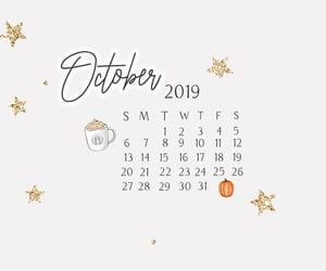 calendar, october, and stars image