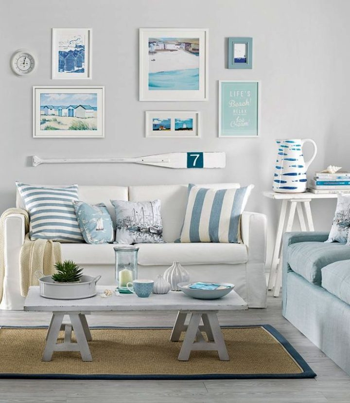 Small Simple Beach Cottage Style Living Room Decor Ideas Pin