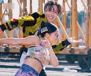 bts, becky g, and jhope image