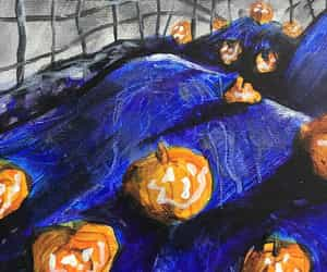 art, painting, and Halloween image