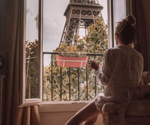 eiffel tower, girl, and inspiration image