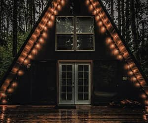 autumn, house, and light image