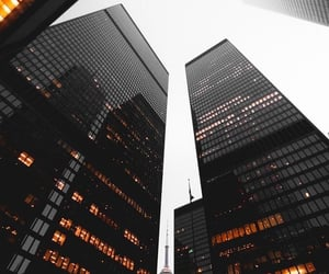 black, toronto, and buildings image