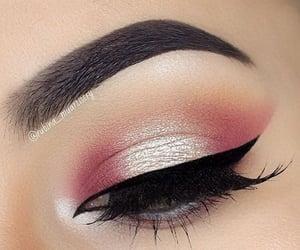 eyes, makeup, and pink image