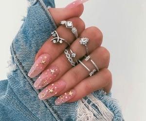 nails, pink, and stars image