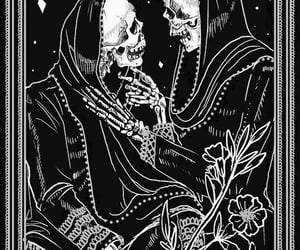 love, tarot, and skeleton image