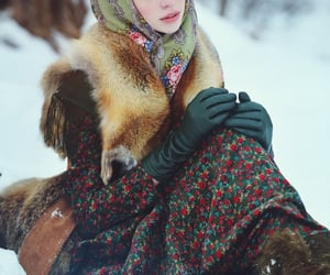 blue eyes, russian Girl, and winter image