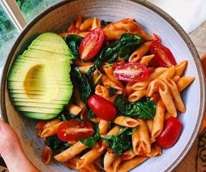 food, avocado, and pasta image