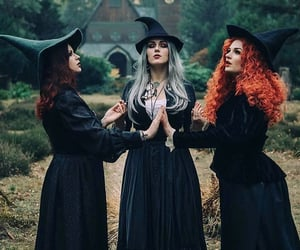 witch, girl, and woman image