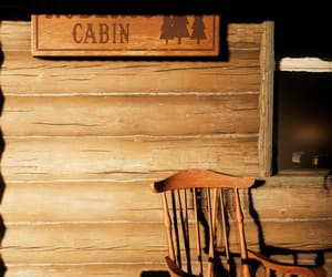 cabin, rustic, and country image