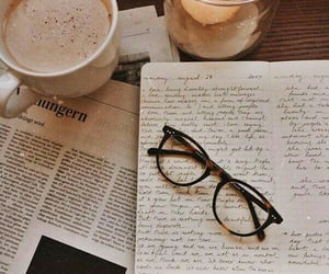 coffee, glasses, and candle image
