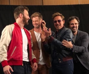 chris evans, chris hemsworth, and mark ruffalo image