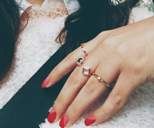 fashion, red, and artsy nails image