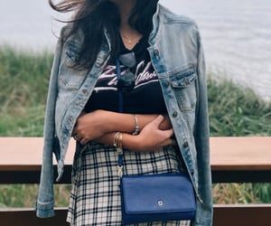blue, details, and street style image
