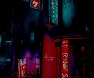 neon, tokyo, and blue image