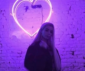 purple, aesthetic, and heart image