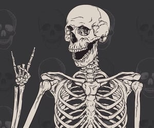 skeleton, wallpaper, and Halloween image