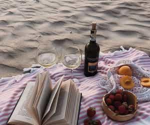 beach, food, and picnic image