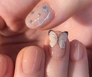 nails, butterfly, and art image