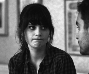 new girl, zooey deschanel, and black and white image