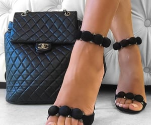 backpack, chanel, and heels image