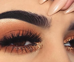beautiful eyes, eye, and eye makeup image