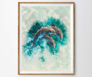 etsy, nurserydecor, and watercolorpainting image