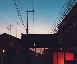 aesthetic, kyoto, and sky image