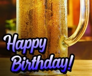 beer, hbd, and birthday image