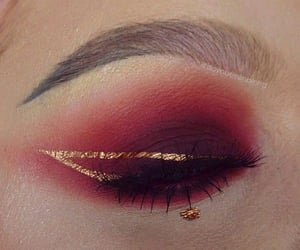 burgundy, dark red, and eyeshadow image