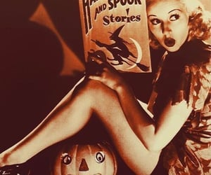 Halloween, vintage, and black and white image