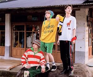 v, bts, and seokjin image
