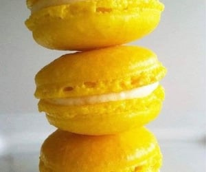 food, yellow, and macaroons image