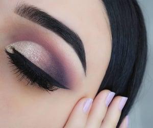 beautiful eyes, eye, and make up image
