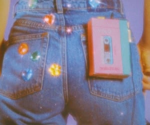 90s, aesthetic, and glitter image