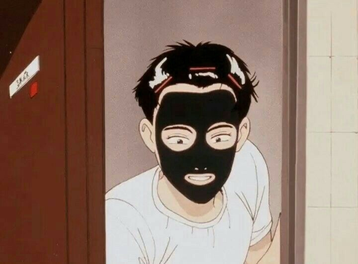 article, mask, and anime image